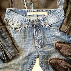 Rock & Roll Denim Blue Jean's 31Wx34L Bootcut